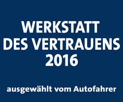 Werkstatt des Vertrauens 2016!